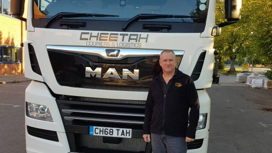 Dave Woodage of Cheetah Couriers