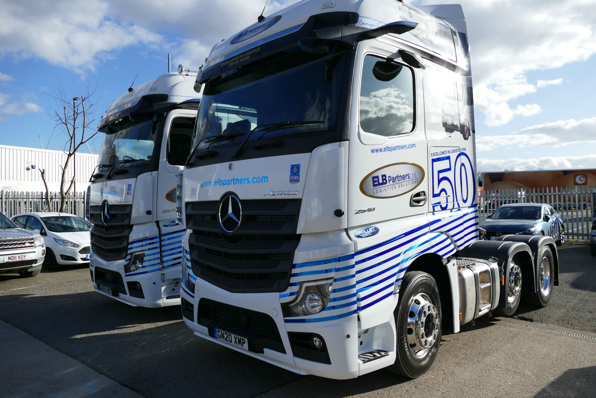 ELB Partners 50th anniversary trucks